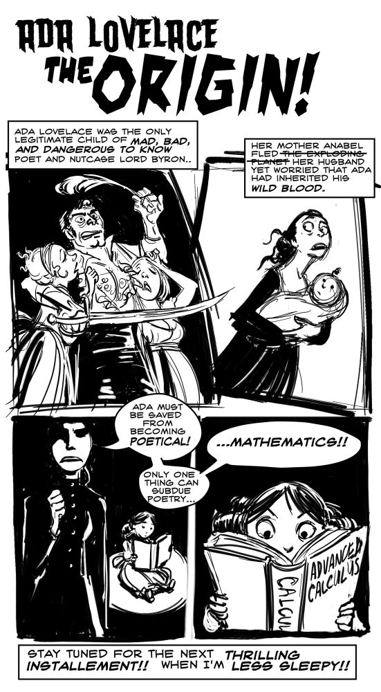 lovelace comic page one